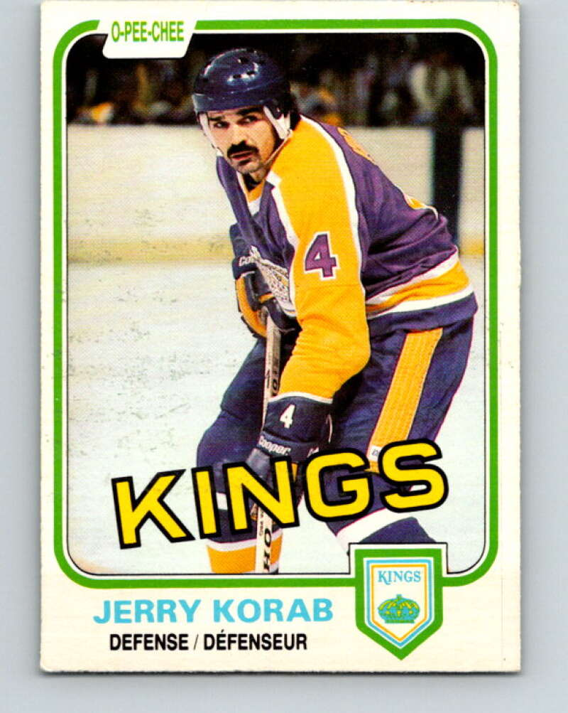 1981-82 O-Pee-Chee #145 Jerry Korab  Los Angeles Kings  V30479