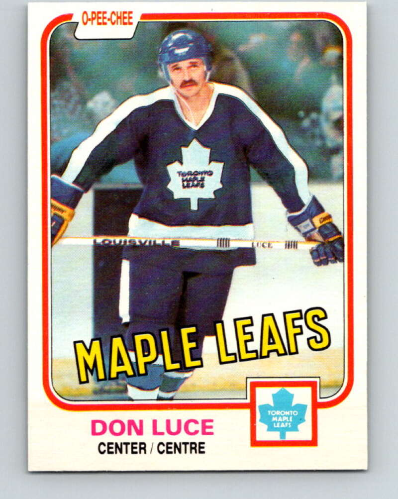 1981-82 O-Pee-Chee #147 Don Luce  Toronto Maple Leafs  V30499