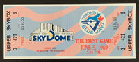 1989 Toronto Blue Jays First Game at Sky Dome Original Ticket