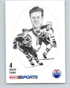 1986-87 NHL Kraft Drawings Kevin Lowe Oilers  V32409