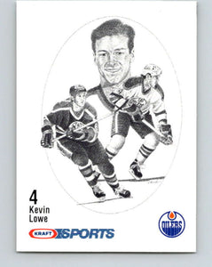 1986-87 NHL Kraft Drawings Kevin Lowe Oilers  V32410