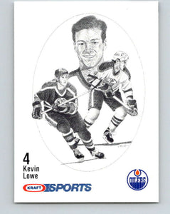 1986-87 NHL Kraft Drawings Kevin Lowe Oilers  V32411