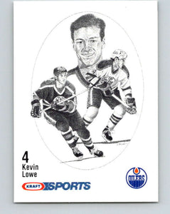1986-87 NHL Kraft Drawings Kevin Lowe Oilers  V32412