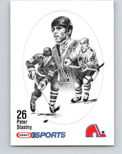 1986-87 NHL Kraft Drawings Peter Stastny Nordiques  V32562