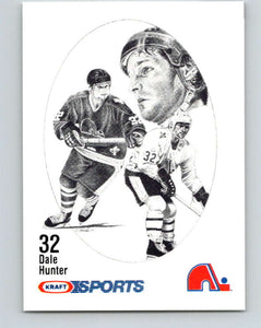 1986-87 NHL Kraft Drawings Dale Hunter Nordiques  V32565