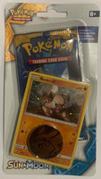 Pokemon Sun & Moon Booster Sealed Booster Pack + Rockruff Card + Pikachu Coin