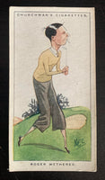1923 Imperial Tobacco W.A & A.C. #33 Roger Wethered Vintage Golf Card V33245