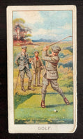 1925 Turf Cigarettes #11 Golf: The Longest Drive Vintage Golf Card V33247