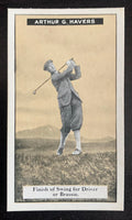 1925 Imperial Tobacco How to Play #3 Driver Vintage Golf Card V33248