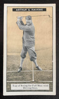 1925 Imperial Tobacco How to Play #12 Swing Vintage Golf Card V33249