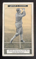 1925 Imperial Tobacco How to Play #13 Full Shot Vintage Golf Card V33250