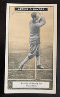 1925 Imperial Tobacco How to Play #16 Iron Shot Vintage Golf Card V33251