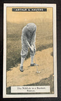 1925 Imperial Tobacco How to Play #17 Niblick Vintage Golf Card V33253