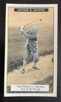 1925 Imperial Tobacco How to Play #18 Bunker Vintage Golf Card V33254