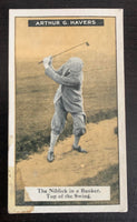 1925 Imperial Tobacco How to Play #18 Bunker Vintage Golf Card V33255