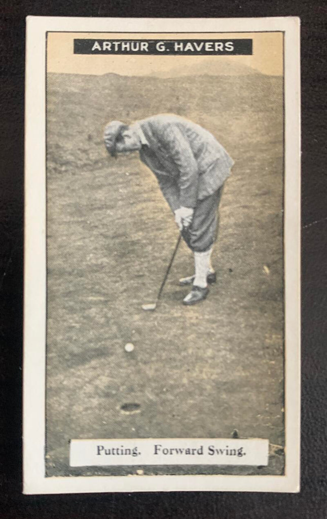 1925 Imperial Tobacco How to Play #25 Putting Vintage Golf Card V33256