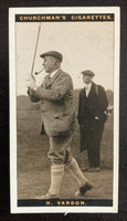1927 Imperial Tobacco Famous Golfers #47 harry Vardon Vintage Golf Card V33257