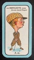 1927 Carreras The Nose Game  A.(8) Impulsive Vintage Golf Card V33259