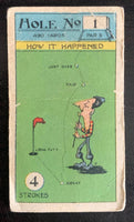 1927 Imperial Tobacco Smokers Game Hole No. 1 Vintage Golf Card V33262