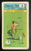 1927 Imperial Tobacco Smokers Game Hole No. 4 Vintage Golf Card V33263