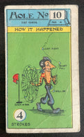 1927 Imperial Tobacco Smokers Game Hole No. 10 Vintage Golf Card V33265