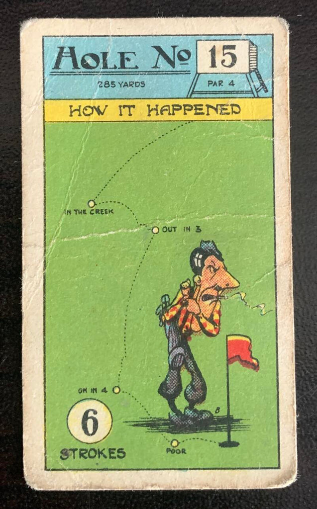 1927 Imperial Tobacco Smokers Game Hole No. 15 Vintage Golf Card V33267