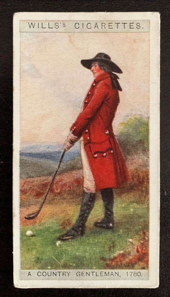 1929 Imperial Tobacco Wills Cigarettes #35 A Country Vintage Golf Card V33270