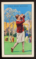 1934 Gallaher Ltd Cigarettes #31 Miss Enid Wilson Vintage Golf Card V33274