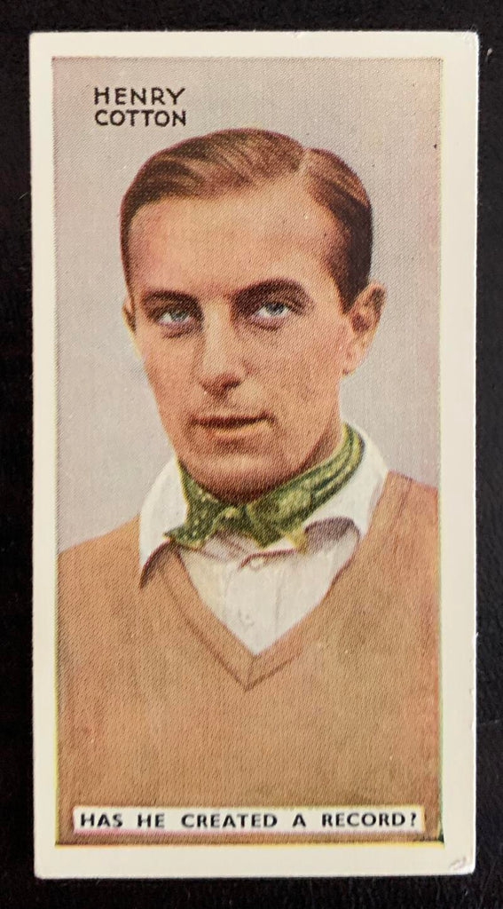 1935 Godfrey Phillips Cigarettes #3 Henry Cotton Vintage Golf Card V33278