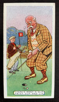 1926 Adath Tobacco Figures of Speech #43 Twixt Cup Vintage Golf Card V33279