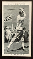 1937 W.D & H.O Wills Cigarettes #16 A Game in 1924 Vintage Golf Card V33280