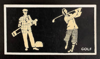 1938 Bocnal Tobacco Cigarettes #3 Luminous Vintage Golf Card V33282
