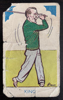 1953 A&J Donaldson Tobacco #324 Sam L. King Vintage Golf Card V33285