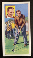 1959 Top Flight Cigarettes Stars #16 Henry Cotton Vintage Golf Card V33288