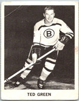 1965-66 Coca-Cola #3 Ted Green  Boston Bruins  X0004