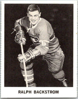 1965-66 Coca-Cola #59 Ralph Backstrom  Montreal Canadiens  X0098
