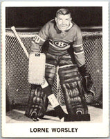1965-66 Coca-Cola #72 Gump Worsley  Montreal Canadiens  X0119