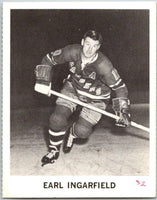 1965-66 Coca-Cola #81 Earl Ingarfield  New York Rangers  X0136