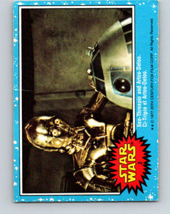 1977 OPC Star Wars #2 See-Threepio and Artoo-Detoo   V33528