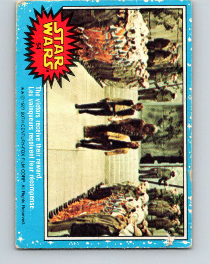 1977 OPC Star Wars #54 The victors receive their reward   V33837