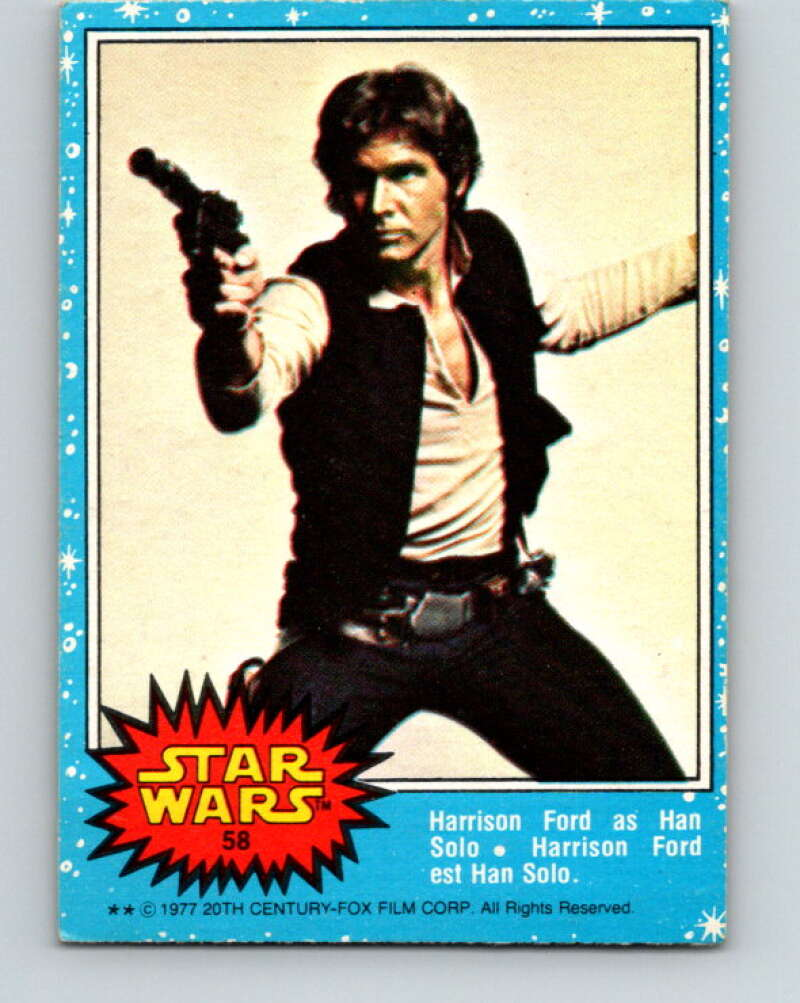 1977 OPC Star Wars #58 Harrison Ford as Han Solo   V33856