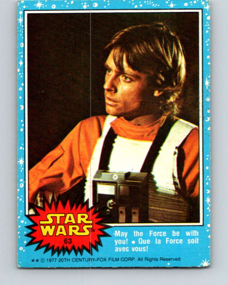 1977 OPC Star Wars #63 May the Force be with you!   V33884