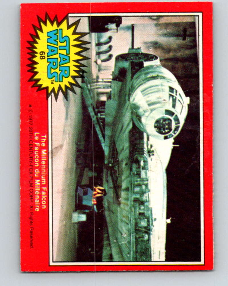 1977 OPC Star Wars #68 The Millennium Falcon   V33913