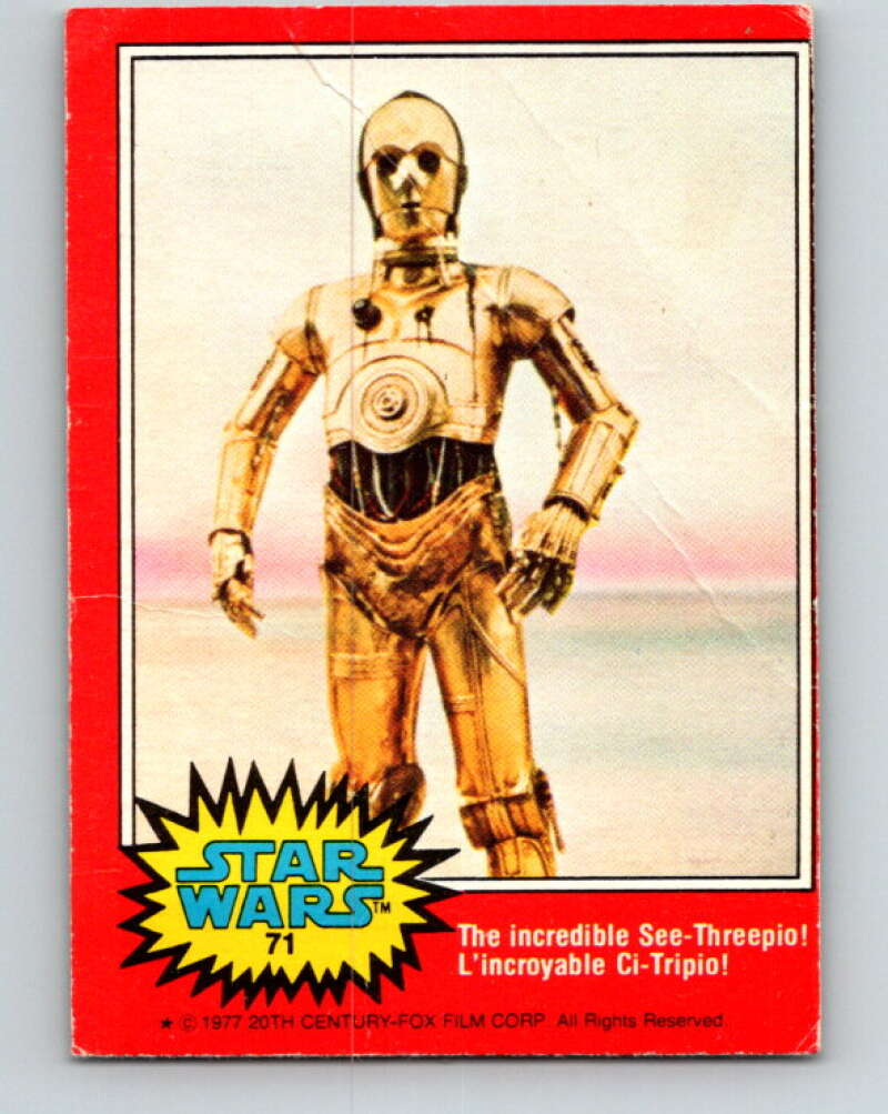 1977 OPC Star Wars #71 The incredible See-Threepio!   V33939