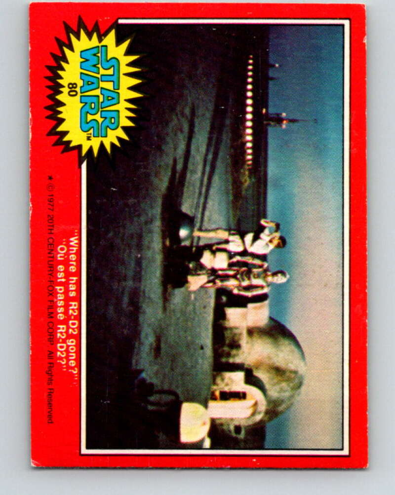 1977 OPC Star Wars #80 Where has R2-D2 gone?   V34014