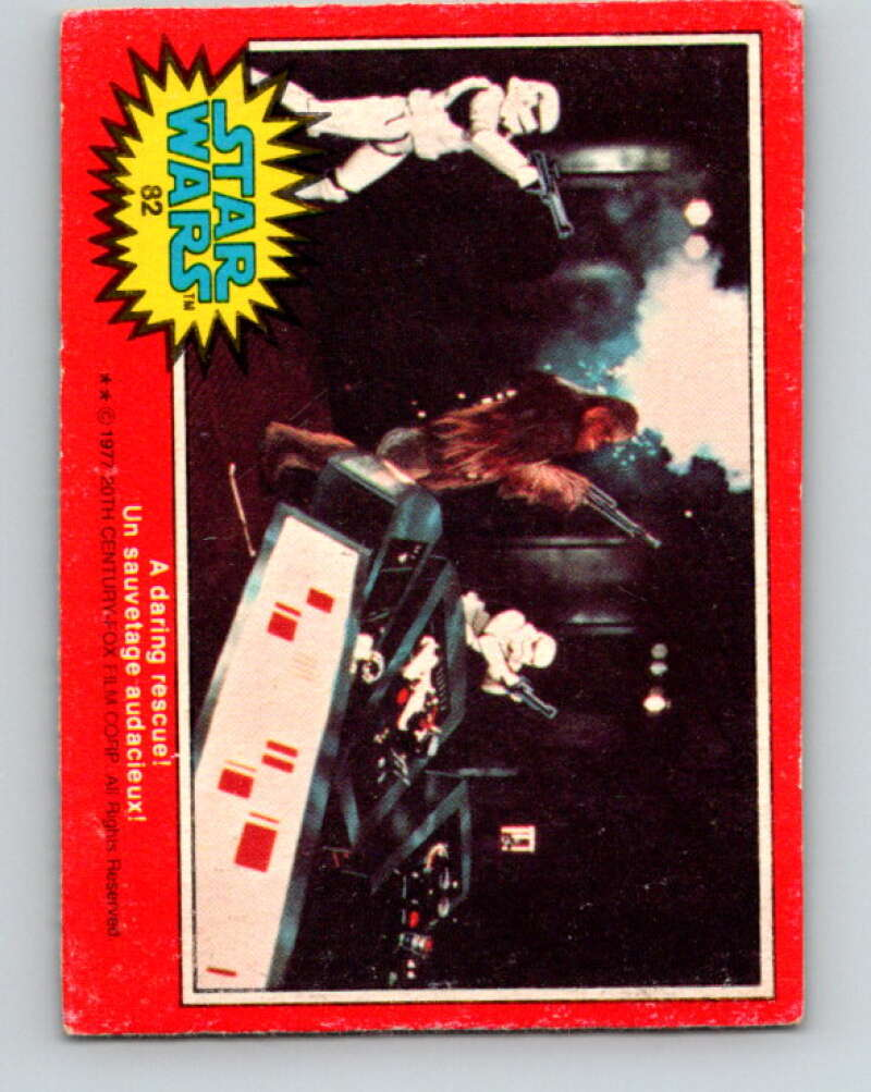 1977 OPC Star Wars #82 A daring rescue!   V34035