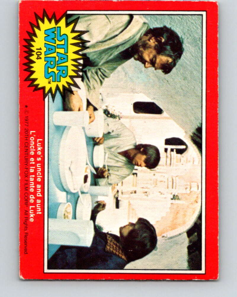 1977 OPC Star Wars #104 Luke's uncle and aunt   V34226