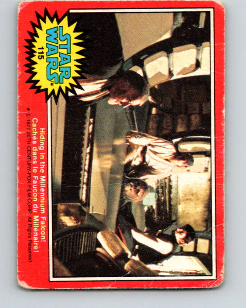 1977 OPC Star Wars #115 Hiding in the Millennium Falcon!   V34303