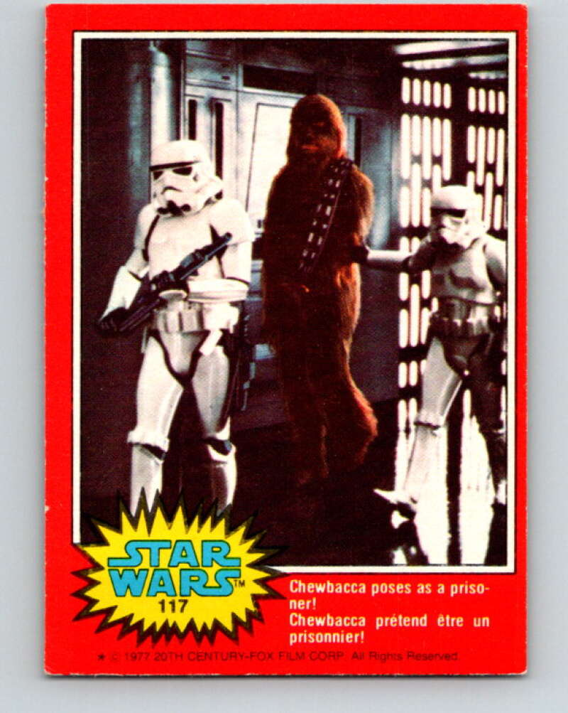 1977 OPC Star Wars #117 Chewbacca poses as a prisoner!   V34312