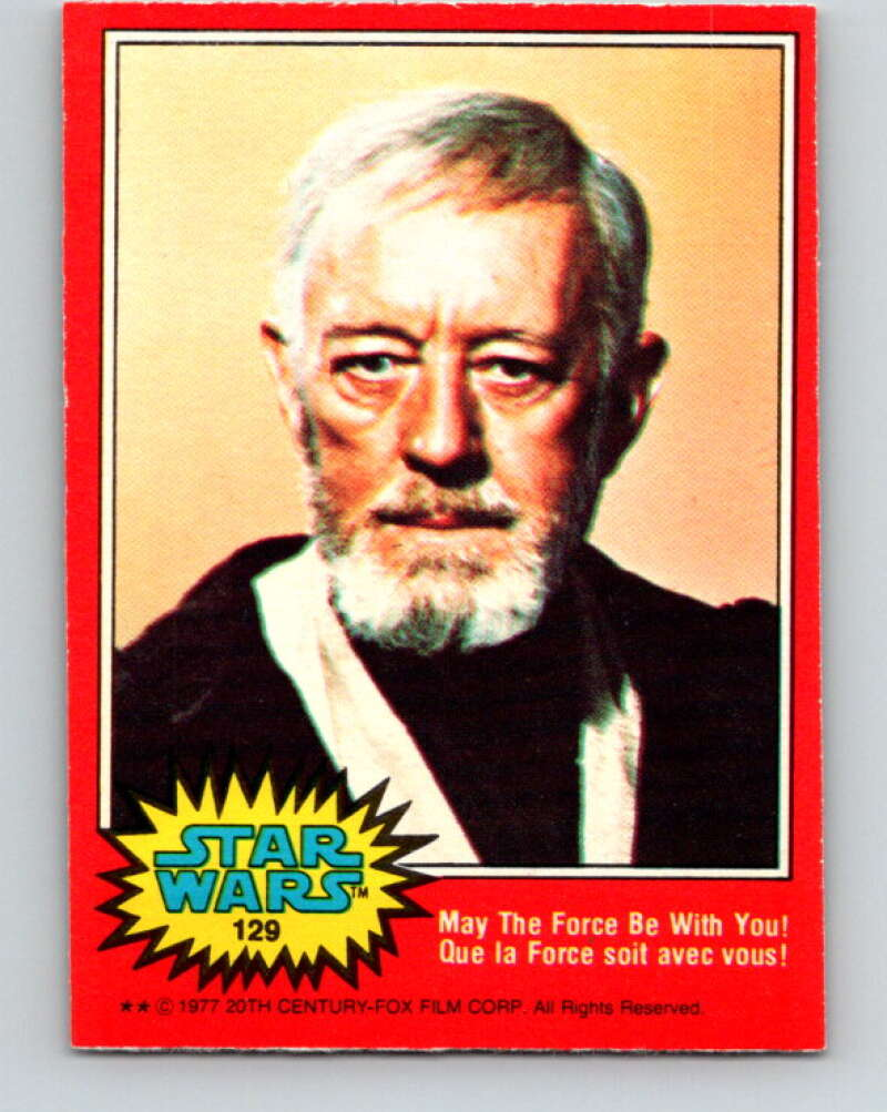 1977 OPC Star Wars #129 May The Force be with you!   V34427